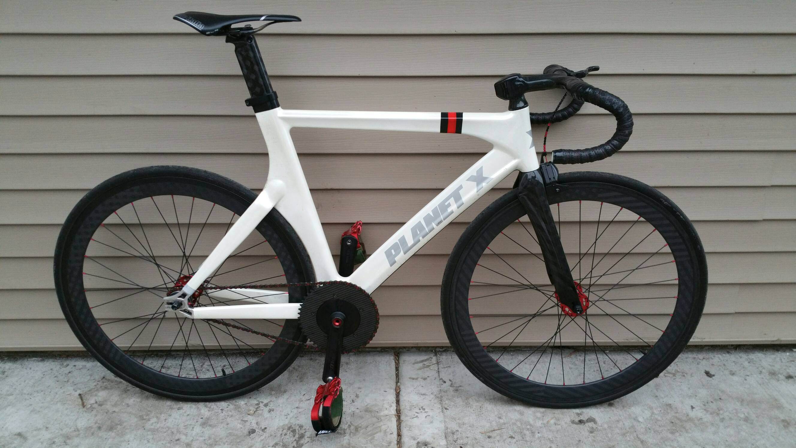 Planet x Pro Carbon Track bike (pearl white, frame) | Chicago Stolen ...